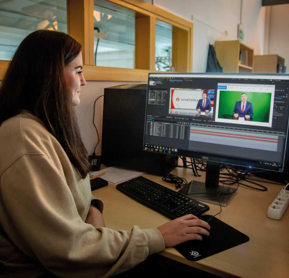 VFX-artist Johanna i klassrummet